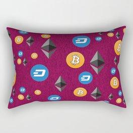 Crypto Currencies Rectangular Pillow