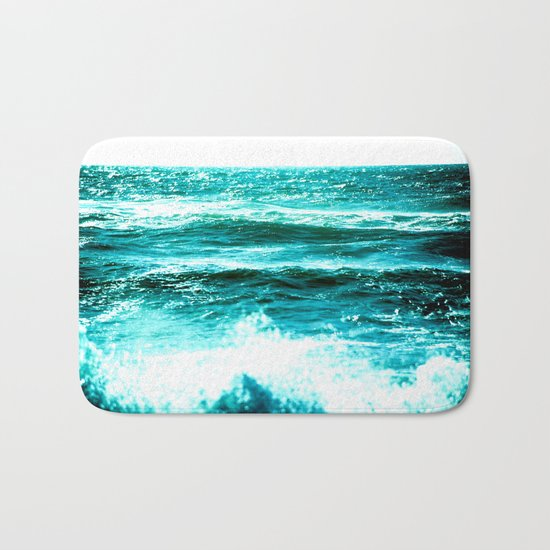 California Ocean Waves Bath Mat
