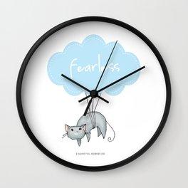 Fearless Cat Wall Clock