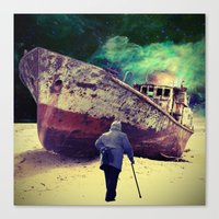 ship Canvas Prints featuring Ship by Cs025