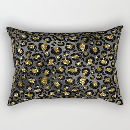 Black Gold Elegant 6 Rectangular Pillow