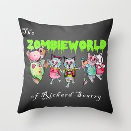 The Zombie World of Richard Scarry Throw Pillow