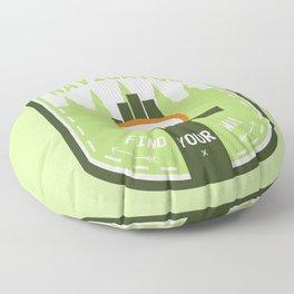 Navigator- Find Your Way - Color Floor Pillow