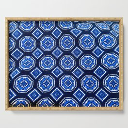 Patterned Up in Blue Serving Tray