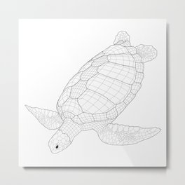 The Green Sea Turtle Metal Print