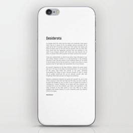 Desiderata #minimalism iPhone Skin