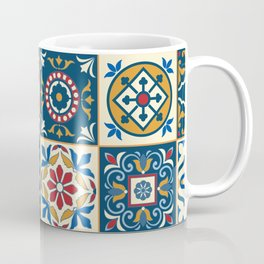 Moroccan Tiles Pattern Multicolor Coffee Mug