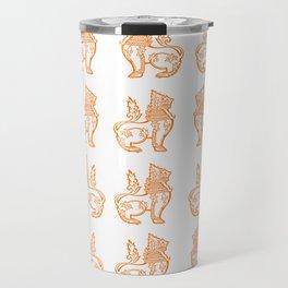 Orange Burmese Lion Travel Mug