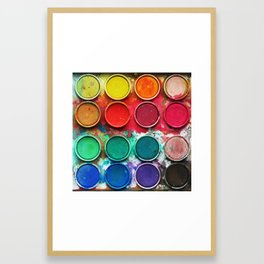 Paintbox Color Palette Framed Art Print