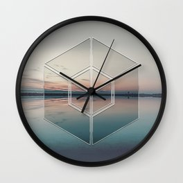 Tranquil Landscape Geometry Wall Clock