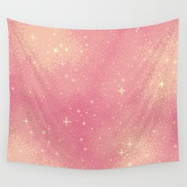 Rose Gold Galaxy Wall Tapestry