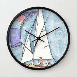 Mystic Sail Wall Clock