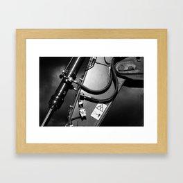 Arm of Power Industrial Hydraulic Digger System Framed Art Print