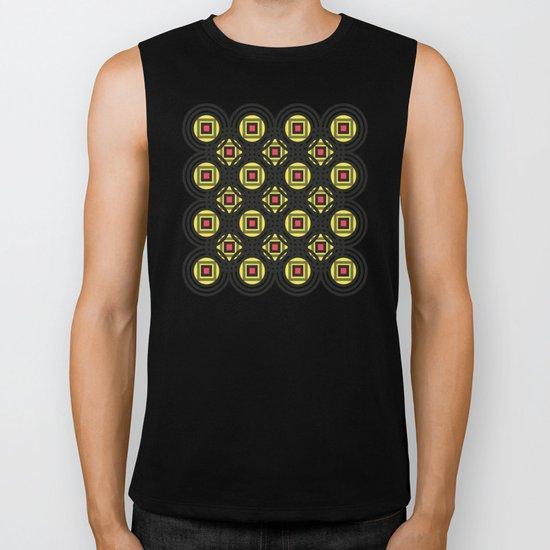 Geometric#8 Biker Tank