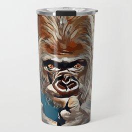 Thinking Gorilla Travel Mug
