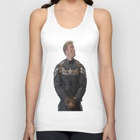steve rogers Tank Tops featuring THE PRICE OF FREEDOM - Steve Rogers by Danielle Aragon
