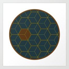 Hex1 Art Print