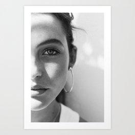 Girl - Ibiza - B&W Portrait Photography Art Print
