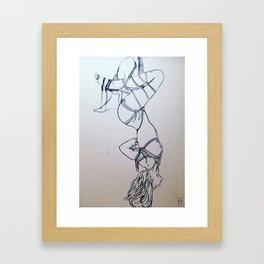 Take me back there (B&W) Framed Art Print