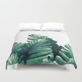 Green Banana Leaves Dream #1 #tropical #decor #art #society6 Duvet Cover