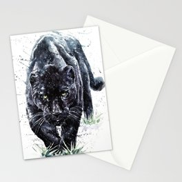 Panther watercolor painting predator animals puma jaguar wild & fre Stationery Cards