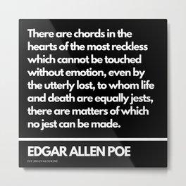 96  Edgar Allen Poe Quotes   201012  Existentialism Nihilism Existentialist Philosophy Writer Raven Metal Print