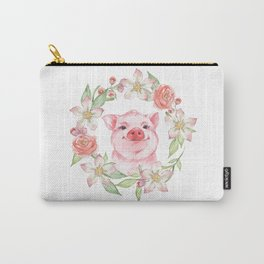 Pig and flowers Carry-All Pouch