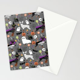 Min Pin halloween miniature doberman pinscher cute dog breed gifts Stationery Cards