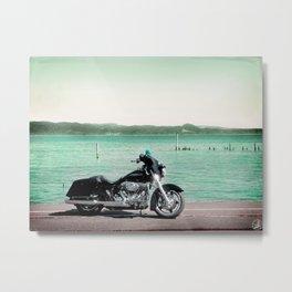 To Stoke Hunger, motorcycle Metal Print