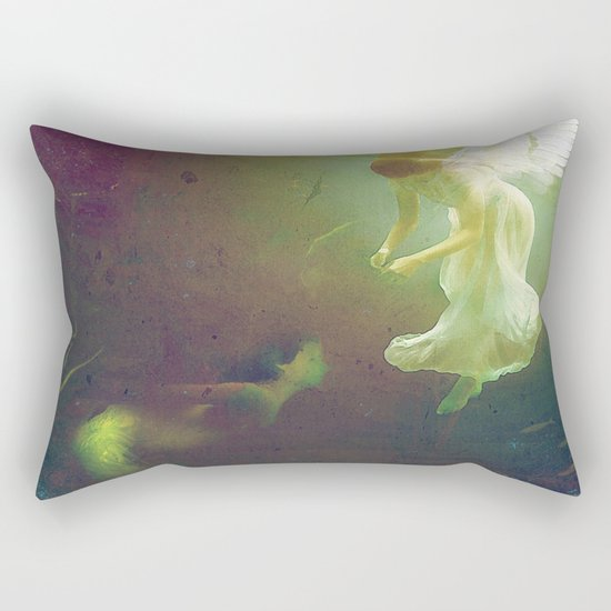 The angel and the mermaid Rectangular Pillow