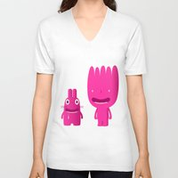 mouth V-neck T-shirts featuring mouth breathers by simon oxley idokungfoo.com