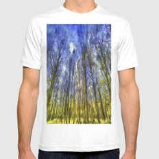 Fantasy Art Forest Mens Fitted Tee MEDIUM White