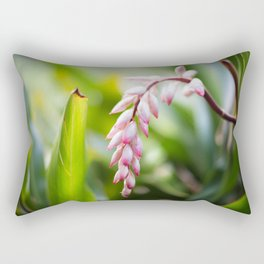 White Ginger Flower Rectangular Pillow