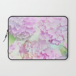 Painterly Hydrangea flowers on a pastel background Laptop Sleeve