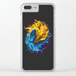 Eagles Elemental Yin Yang Clear iPhone Case