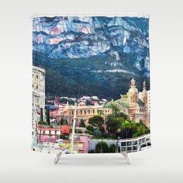 Monte Carlo Casino and Marina Shower Curtain