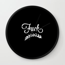 Pretty as Fuck Wall Clock