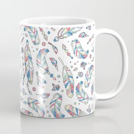 Pastel Feathers Pattern Coffee Mug