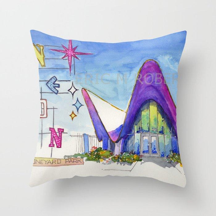 Las Vegas Neon Museum Throw Pillow