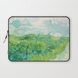 Green Wheat Fields - Auvers, by Vincent van Gogh Laptop Sleeve