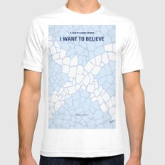 No792 My I Want to Believe minimal movie poster Mens Fitted Tee White MEDIUM
