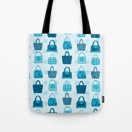 Handbag Heven Blues with Spots Tote Bag