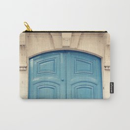 Paris door, pastel blue II Carry-All Pouch