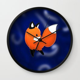 Introducing a fox Wall Clock