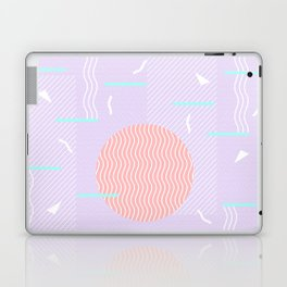 Memphis Summer Lavender Waves Laptop & iPad Skin