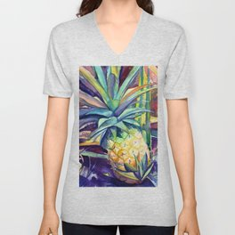 Kauai Pineapple 4 Unisex V-Neck