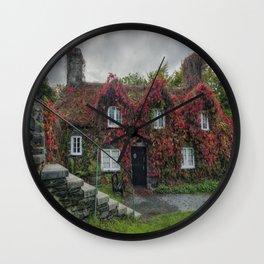 Autumn Cottage Wall Clock