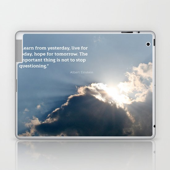 Live for today Laptop & iPad Skin