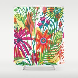 G.D.Flowers: Some Flowers, Dammit! Shower Curtain