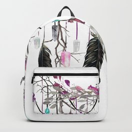 Raven Feathers And Roses Crystal Spirit Gazer Backpack